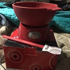 Like New Valeta Fondue Warming Pot & Spatula